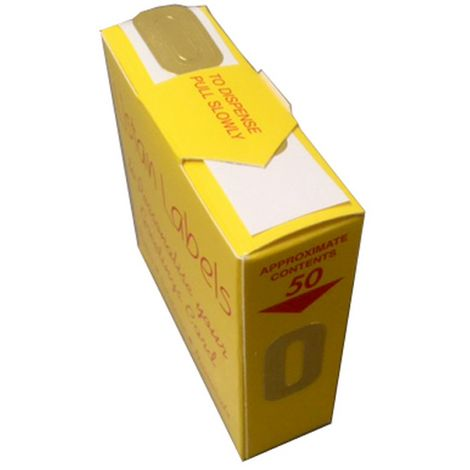 Listan Labels Gold Numeric Adhesive Labels (Box Of 50)