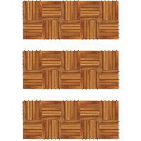 Listelli Pavimentazione Acacia Design Verticale 30x30cm 30 pz