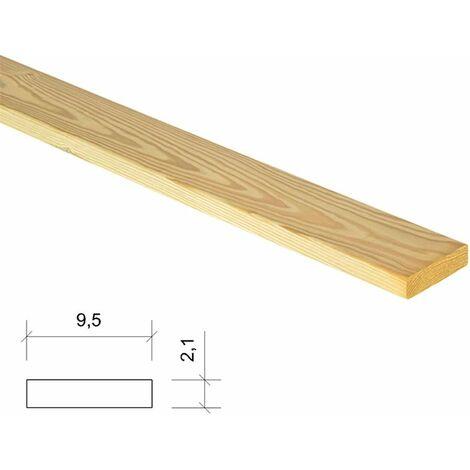 Listón de madera tratado y cepillado 9,5x2,1x240cm