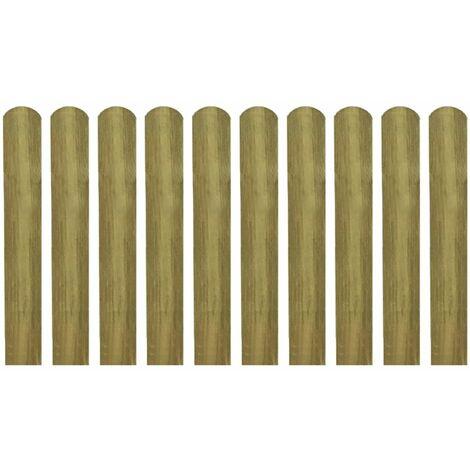 listones de madera impregnados para cercado 10 uds 60 cm