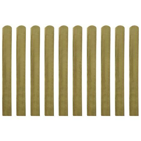 Listones de valla de jardín 20 uds 100 cm madera impregnada