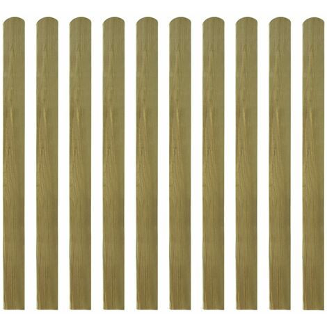 Listones de valla de jardín 20 uds madera impregnada 120 cm