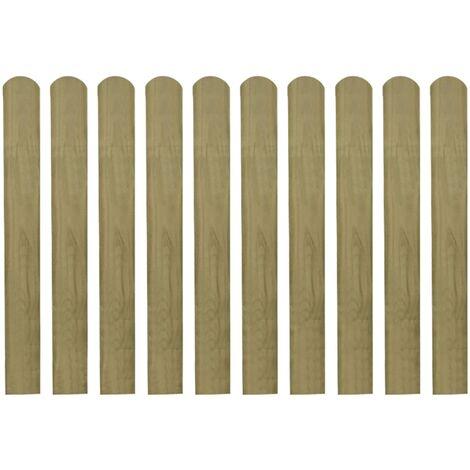 Listones de valla de jardín 20 uds madera impregnada 80 cm