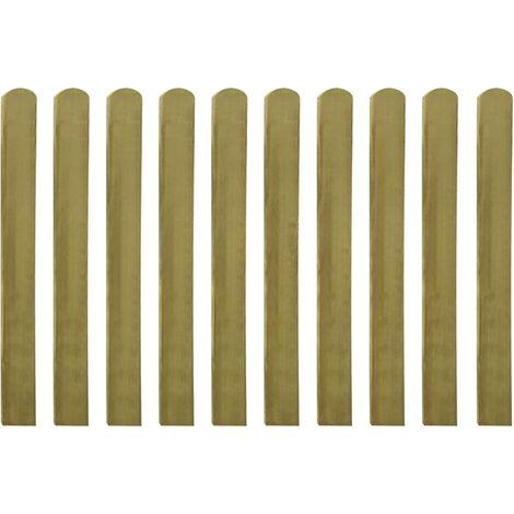 Listones de valla de jardín 30 uds madera impregnada 100 cm