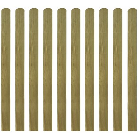 Listones de valla de jardín 30 uds madera impregnada 120 cm