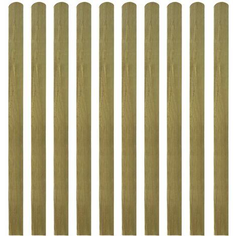 Listones de valla de jardín 30 uds madera impregnada 140 cm