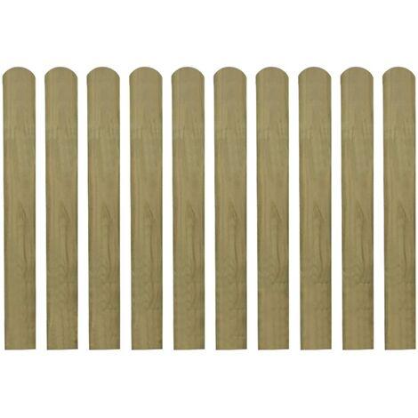 Listones de valla de jardín 30 uds madera impregnada 80 cm