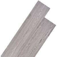 Listoni per Pavimentazione in PVC 5,26 m² Grigio Scuro