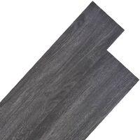 Listoni per Pavimentazione in PVC 5,26 m² Nero e Bianco