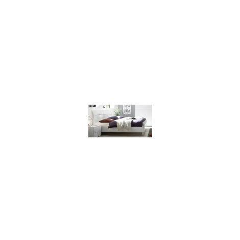 Lit avolte tête courbée 160x200 cm en 3 couleurs - Couleur: Blanc - Blanc