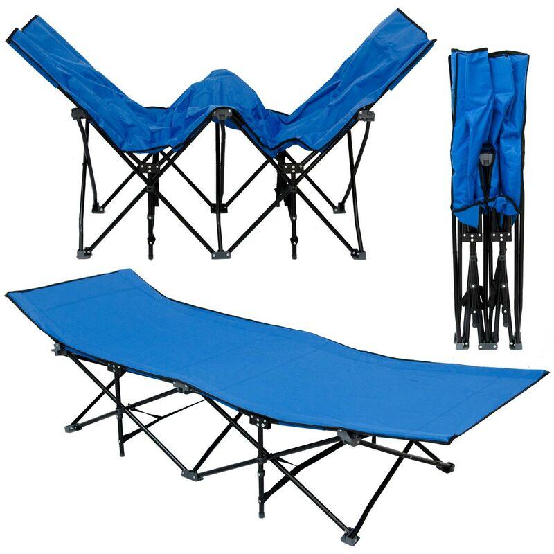 No_brand - Lit de camp pliable de AMANKA | portable avec sac incl | idéal pour faire du camping voyager se bronzer | structure en acier 190x70cm 10