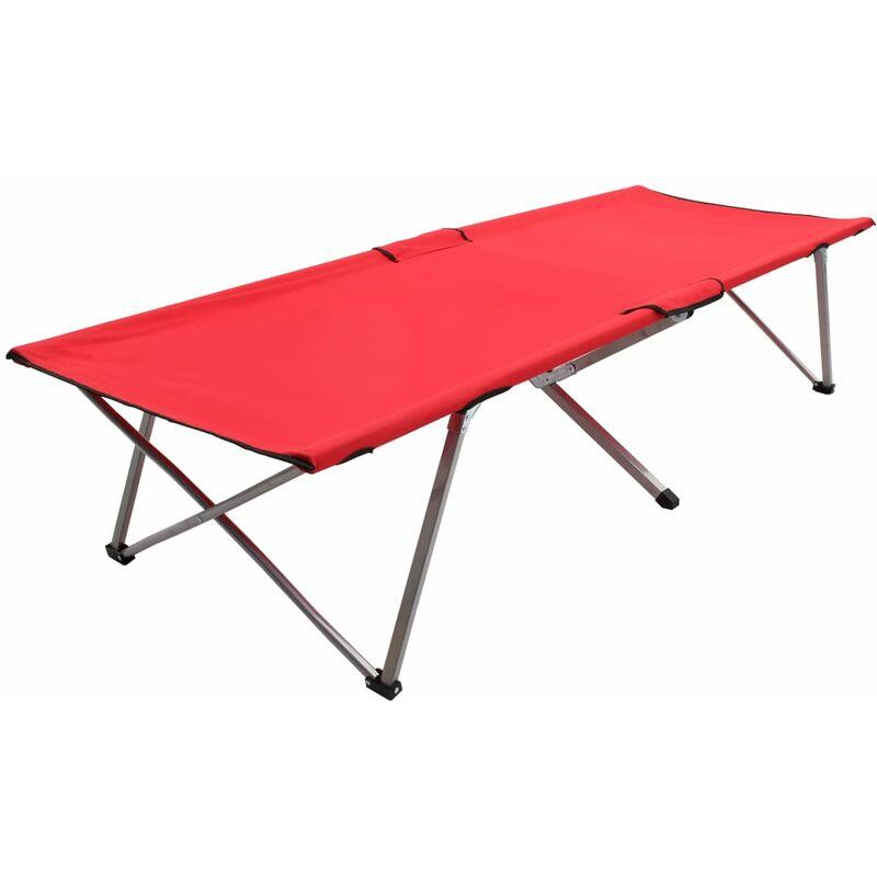 Vidaxl - Lit de camping 206x75x45 cm XXL Rouge