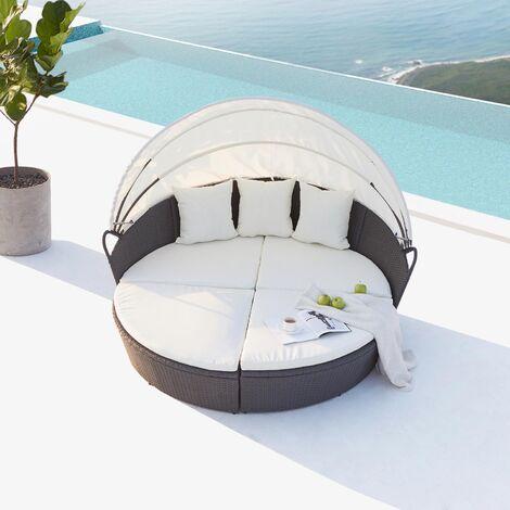 Cocoon : salon de jardin modulable 6/8 personnes en résine ...
