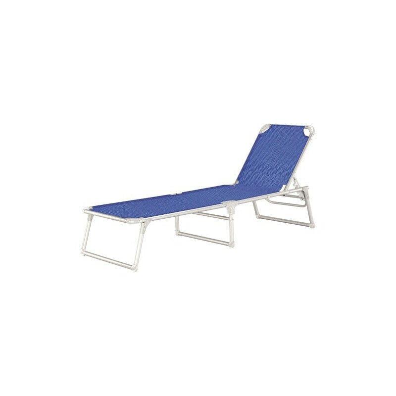 Lit de plage en aluminium Lounger Beach Thera Blue