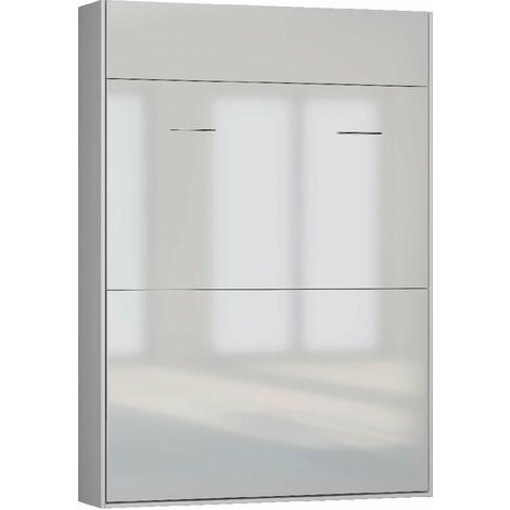 """main image of """"Lit escamotable STUDIO façade blanc brillant Couchage 140*200 cm Ouverture assistée et pied automatique - blanc"""""""