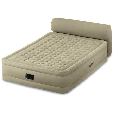 Lit Gonflable électrique 2 Personnes Intex Headboard Bed