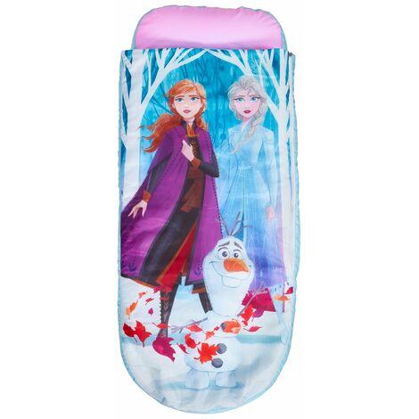 Lit gonflable enfant avec sac de couchage intégré motif Reine des neige - H.62 x L.150 x P.20cm -PEGANE-