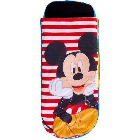 Lit gonflable Mickey Mouse pour enfants avec sac de couchage intégré - Dim : H.62 x L.150 x P.20cm -PEGANE-
