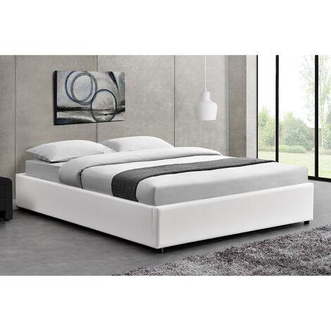 Lit Kennington - Structure de lit Noir avec coffre de rangement intégré -140x190 cm