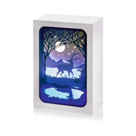 Lit Paper Diorama with Moonlight Scene - 16 x 11cm