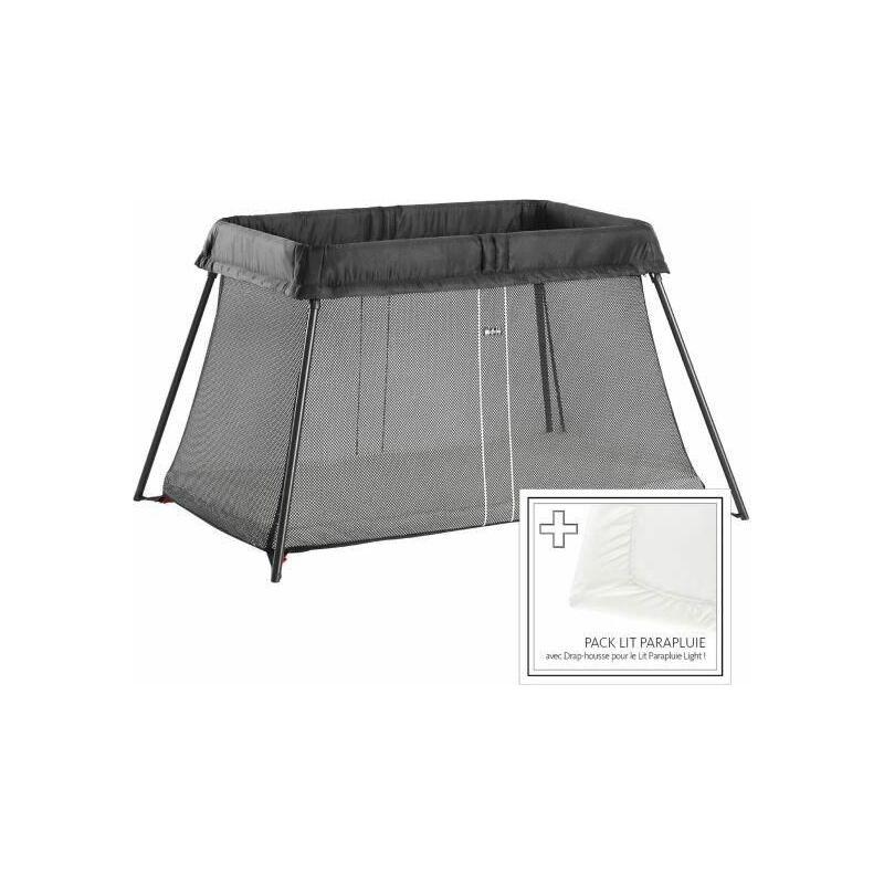 Lit Parapluie + Drap-housse - Noir - Babybjorn