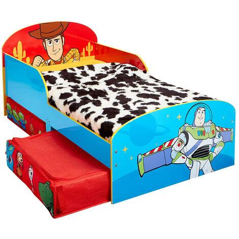 Lit pour enfants avec espace de rangement sous le lit Toy Story Disney