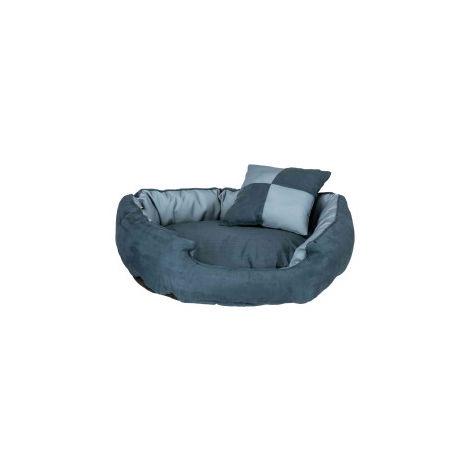 Lit réversible Basko. 80 × 65 cm. pour chien. couleur bleu.
