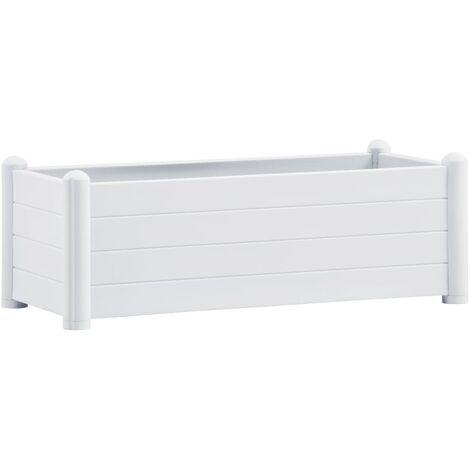 Lit surélevé de jardin PP Blanc 100x43x35 cm