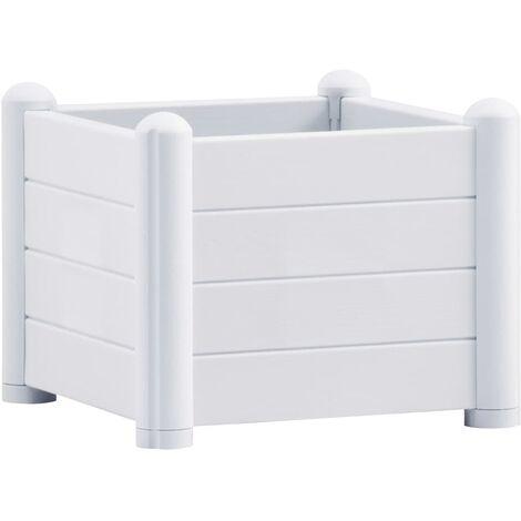 Lit surélevé de jardin PP Blanc 43x43x35 cm