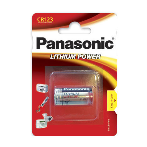Lithium battery (blister) Panasonic CR123 3V 1550mAh