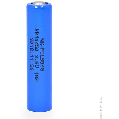 Lithium battery ER10450H AAA 3.6V 1Ah