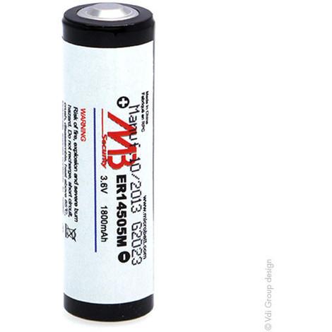 Lithium battery ER14505M AA 3.6V 1800mAh