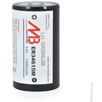 Lithium battery ER34615M D 3.6V 14Ah