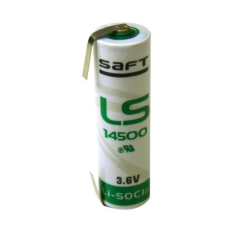 Lithium battery SAFT LS14500-CNR AA 3.6V 2.6Ah T2