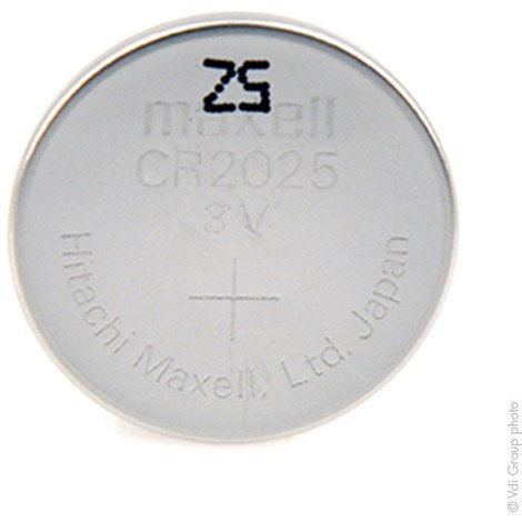 Lithium button cell (blister) CR2025 MAXELL 3V 170mAh