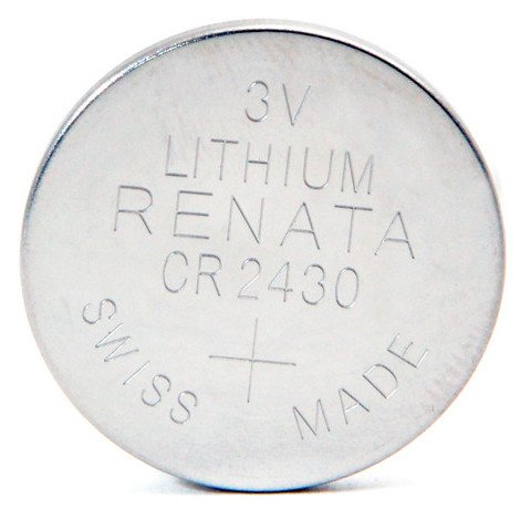 Lithium button cell (blister) CR2430 RENATA 3V 285mAh