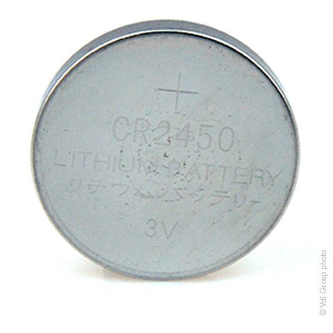 Lithium button cell (blister) CR2450 3V 600mAh