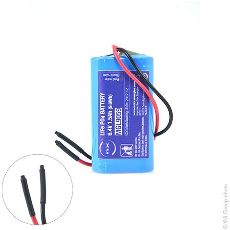Lithium iron phosphate battery 2S1P IFR18650 + PCM (9.6Wh) 6.4V 1.5Ah