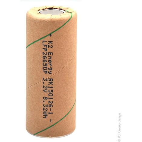 Lithium Iron Phosphate battery K2 ENERGY IFR-26650 LiFePO4 HD 3.2V 2600mAh