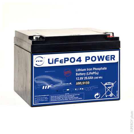 Lithium iron phosphate battery NX LiFePO4 POWER UN38.3 (340Wh) 12V 26.6Ah M5-F
