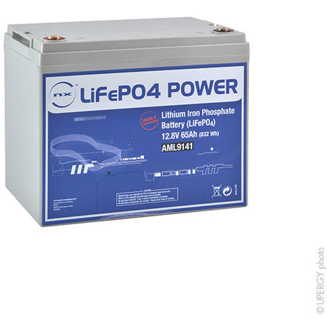 Lithium iron phosphate battery NX LiFePO4 POWER UN38.3 (832Wh) 12V 65Ah M8-F