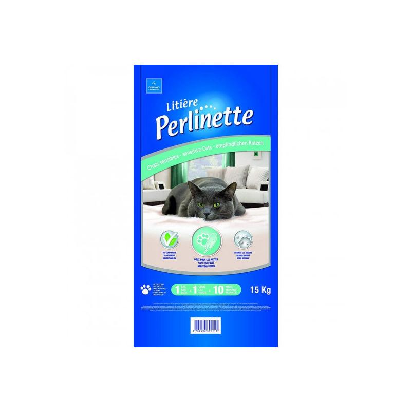 Litière pour chat sensible Sac 15 kg - Perlinette