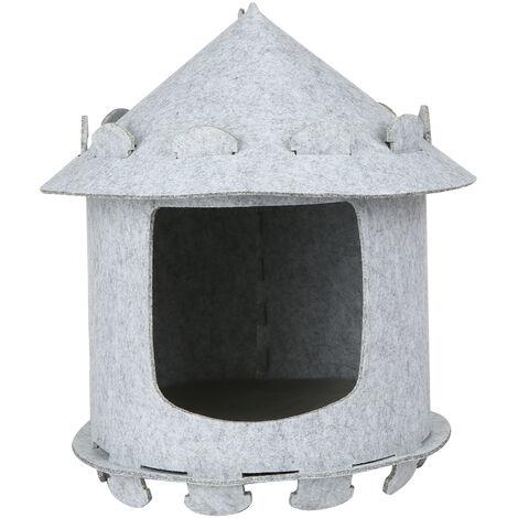 Litiere pour chat Le feutre convient aux chats de moins de 15 chats (gris), type de maison