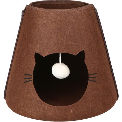 Litiere pour chats adaptee aux chats de moins de 15 chats (marron)