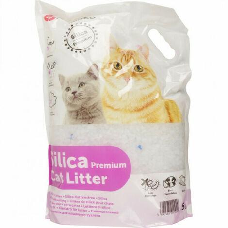 Litière pour chats Silica Premium Percato Contenance 5 litres