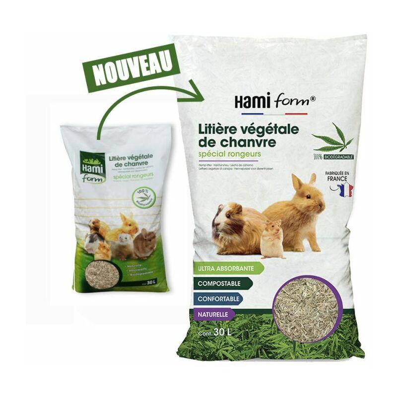 Litière végétale de chanvre 30 L Form - Hami