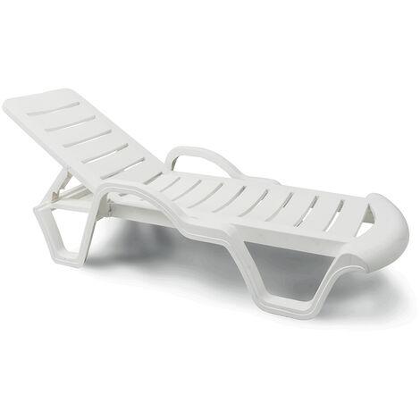 Lits de piscine chaises longue en plastique professionels bain de soleil promo lot de 18 pièces