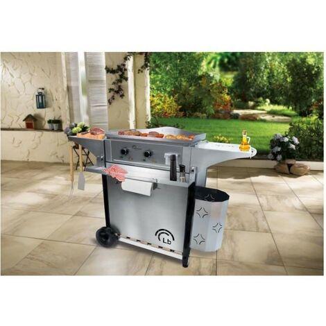 LITTLE BALANCE 8476 Aquitaine Pro, Plancha électrique professionnelle, 2 zones de cuisson indépendantes, 3500 W, Tout Inox