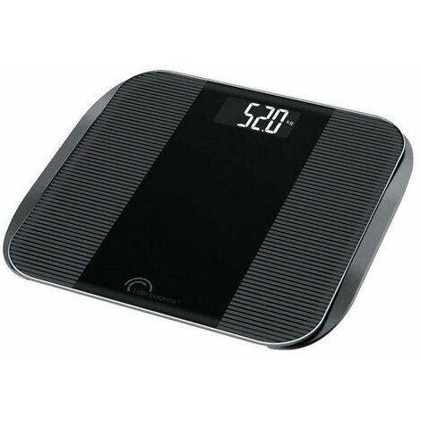 LITTLE BALANCE Pese-personne Slim Wave LCD - 180 kg / 100 g - Noir brillant