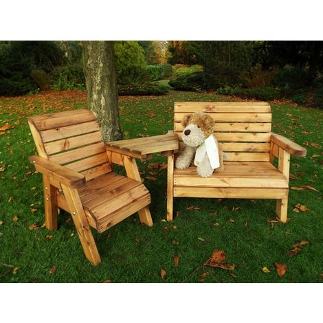 Little Fellas Bench/Chair Combination Set (Angled), wooden garden furniture for children, fully assembled